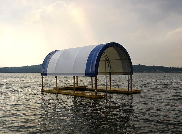 Fabric Shelter for Dock Slip