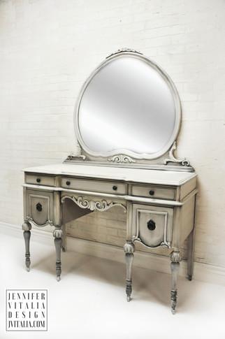 make up vanity kidney shaped antique jennifer vitalia design