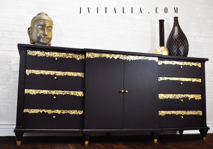 Gold Leaf Dresser Jennifer Vitalia Design Top Furniture Artist