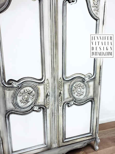 FRENCH ARMOIRE HANDPAINTED BY JENNIFER VITALIA DESIGN