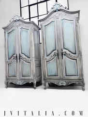 French Armoires Pair of Antique Armoires