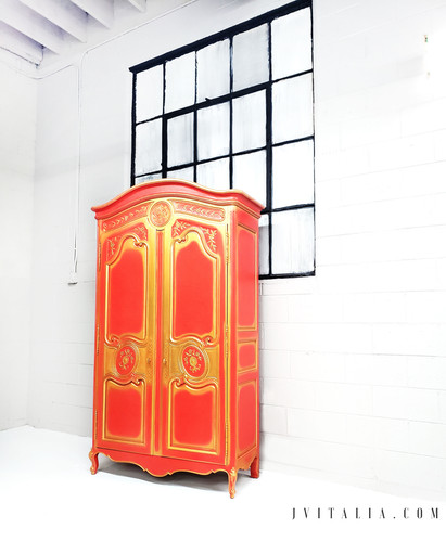 PAINTED FURNITURE FRENCH ARMOIRE .jpg