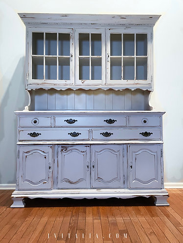 White Farmhouse Bakers Hutch