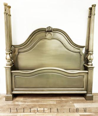 jennifer vitalia painted furniture gold bed