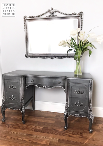 FRENCH PAINTED MAKEUP VANITY - JENNIFER VITALIA DESIGN