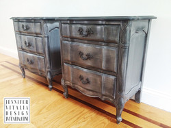 French Painted Nightstands Jen