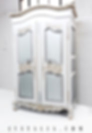 French antique painted armoire Jennifer