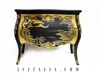 CHINOISERIE BOMBAY DRESSER CHEST HAND PAINTED