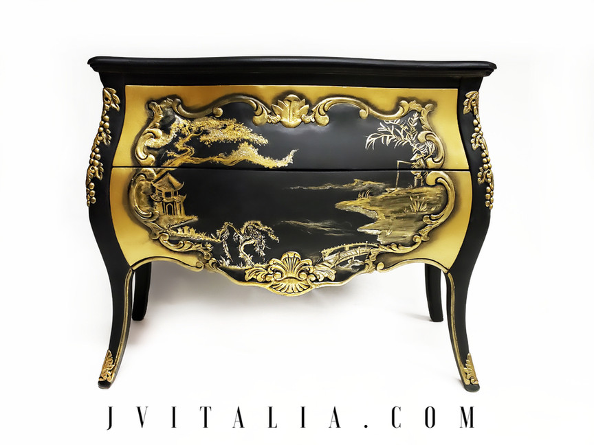 Antique Asian Bombay Chest Chinoiserie J