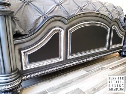 custom painted bed Jennifer Vitalia design