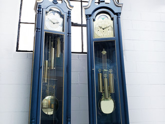 HAND PAINTED GRANDFATHER CLOCKS