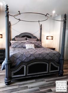 Painted Poster Beds Black Jennifer Vitalia Design