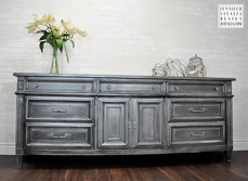 Modern Metallic Painted sideboard Jennifer Vitalia Design