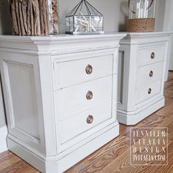 jennifer vitalia design painted furniture - white painted nightstands nj