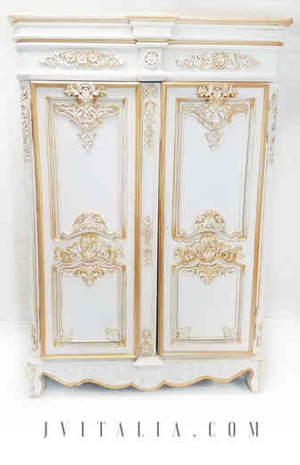 Louis XV French Armoire Gold by Jennifer Vitalia Design Copyrighted