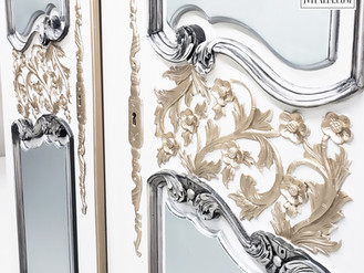PAINTED ARMOIRE - MIX YOUR METALS.