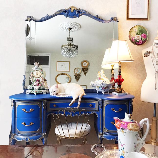 Painted Vanity by Jennifer Vitalia