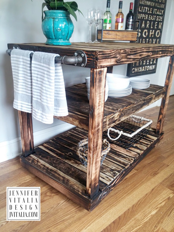 jennifer vitalia design - reclaimed wood kitchen island