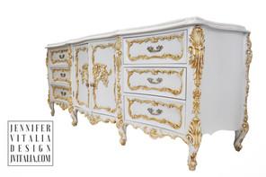 Painted Rococo French Dresser  Jennifer Vitalia Design