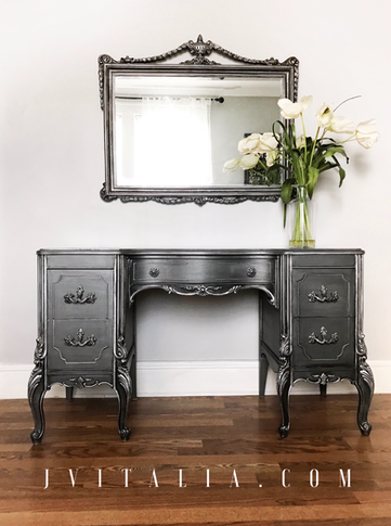 painted french vanity - Jennifer vitalia design
