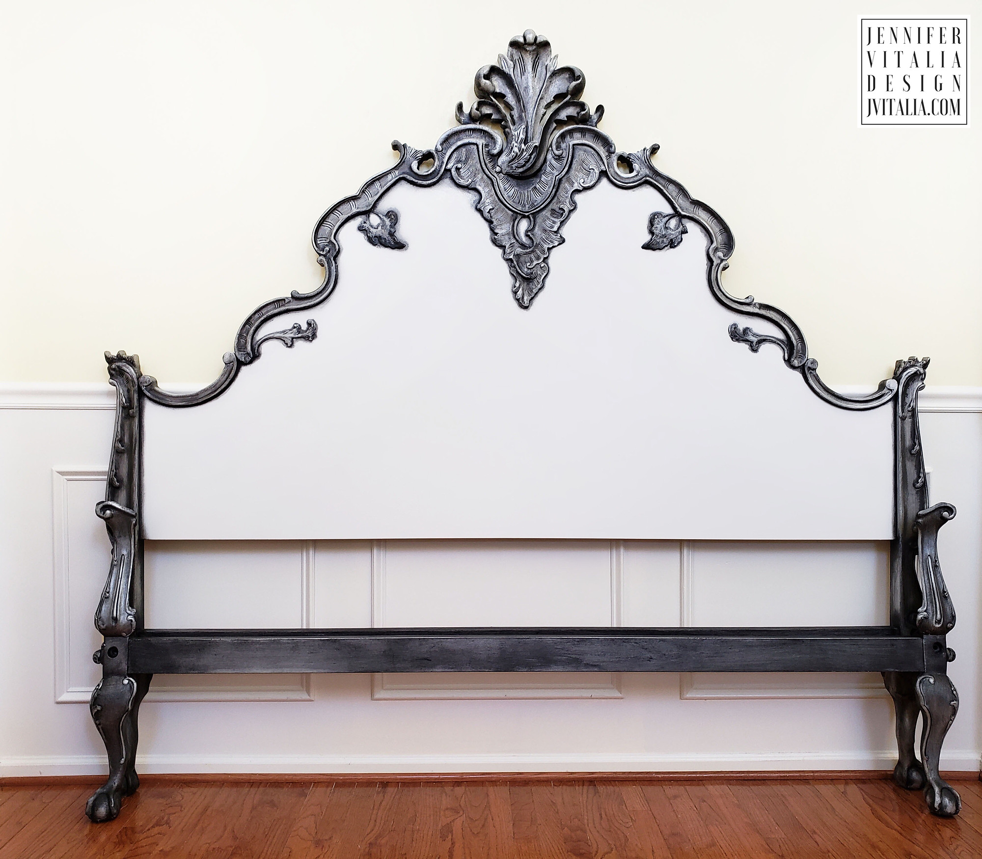 French Hand Painted Antique Bed Frames