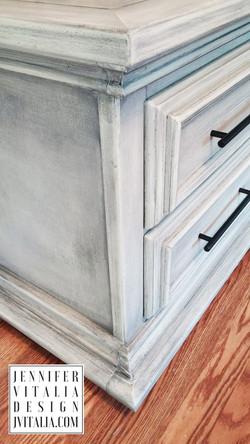Gray Painted Modern Nightstands Jen