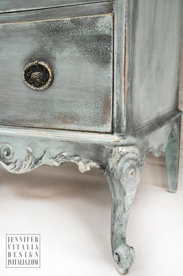 teal antique painted french dresser decor jennifer vitalia design top furniture artist