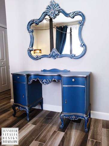 make up vanity blue - Jennifer Vitalia Design