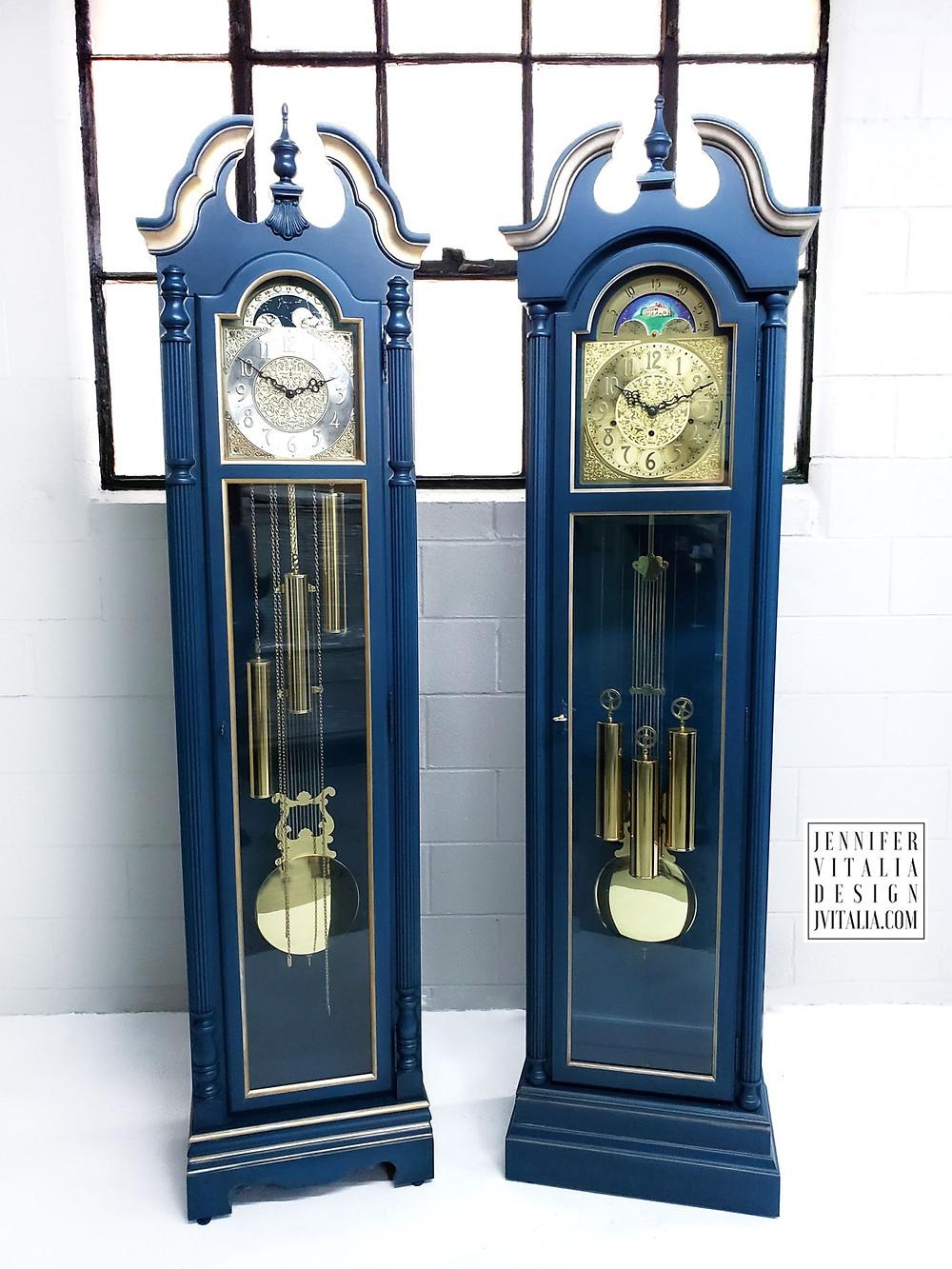 Hand Painted Grandfather Clocks - Jennifer Vitalia Design