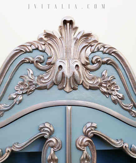 FRENCH PAINTED ARMOIRE - JENNIFER VITALI