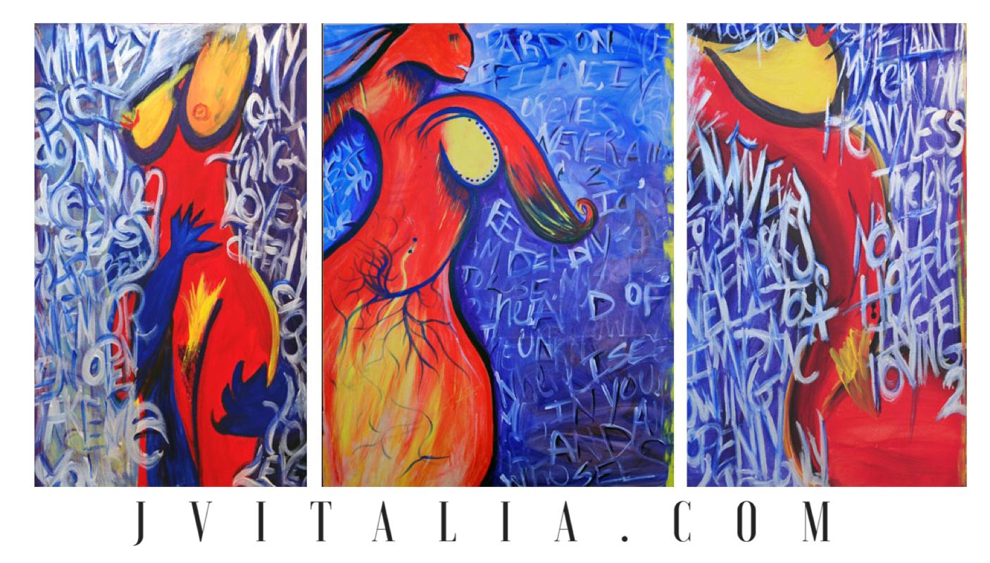 Seductive 3 Split Canvas Jennifer Vi