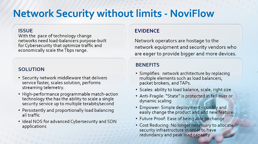 Programable Network Security - NoviFlow.