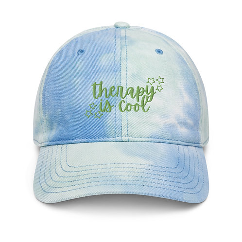 Therapy is Cool Tie Dye Hat