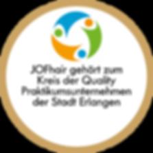 Qualifiziertes Praktikum QP der Stadt Erlangen bei Friseur JOFhair
