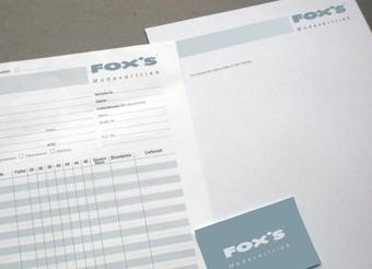 FOX'S - Geschäftsausstattung