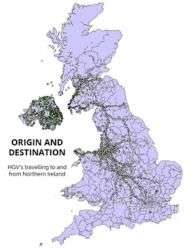 HGV Origin/Destination to and from Northern Ireland