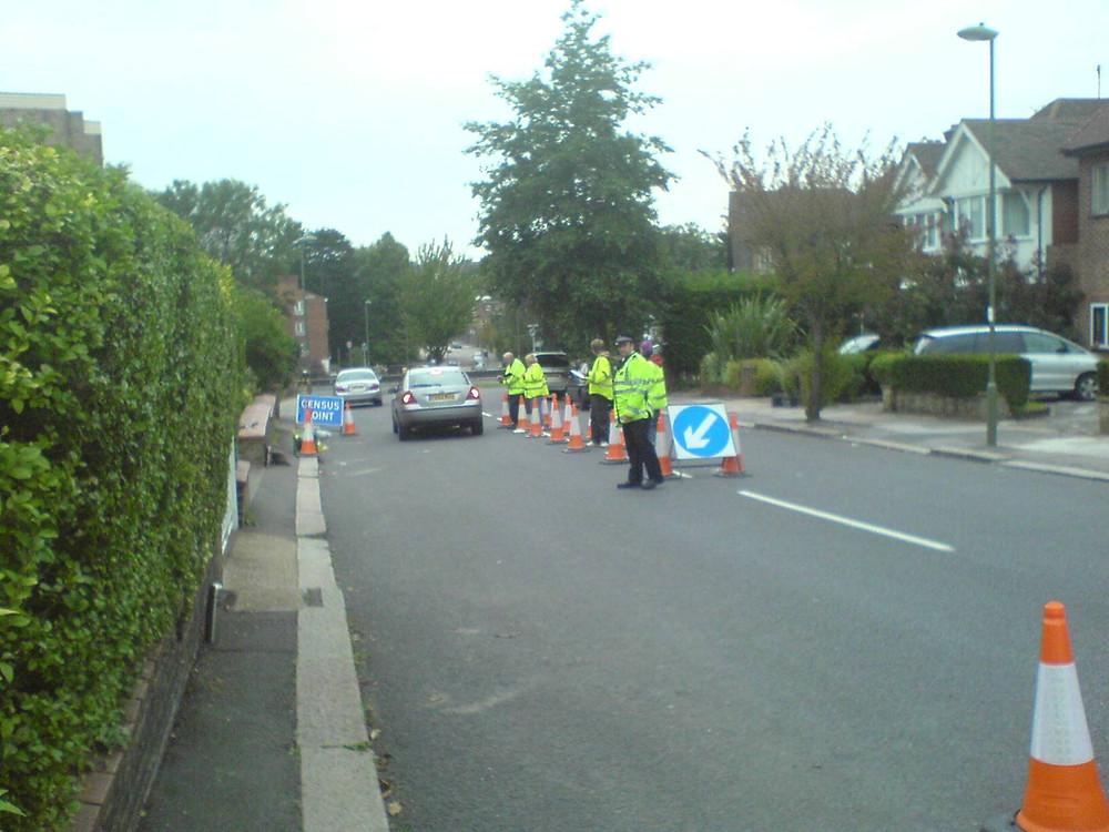 Roadside traffic interviews in a semi-urban area
