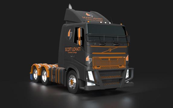 Scott Lovatt Container Cartage Truck wrap concept