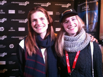 Me and Lake Bell at Sundance