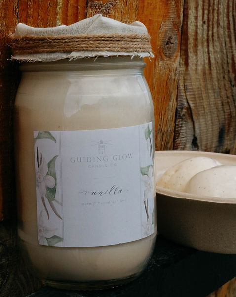Vanilla Candle by Guiding Glow Candle Co.