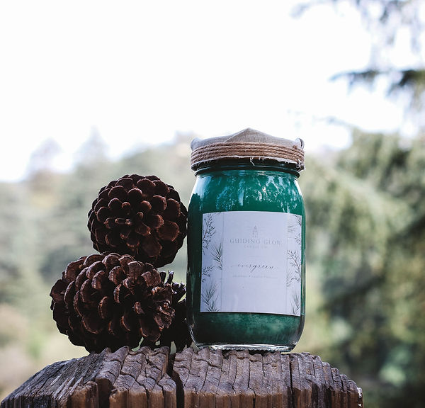 Evergreen Candle by Guiding Glow Candle Co.