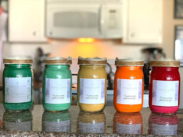 You can customize your own candles with your favorite scents, label and color!