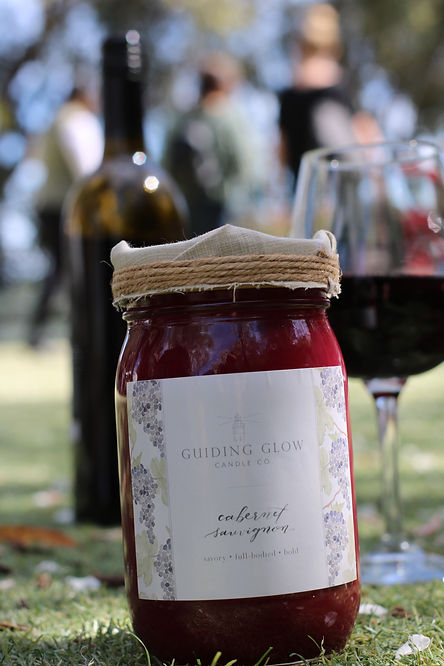 Cabernet Sauvignon Candle by Guiding Glow Candle Co.