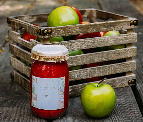 Apple Candle by Guiding Glow Candle Co.