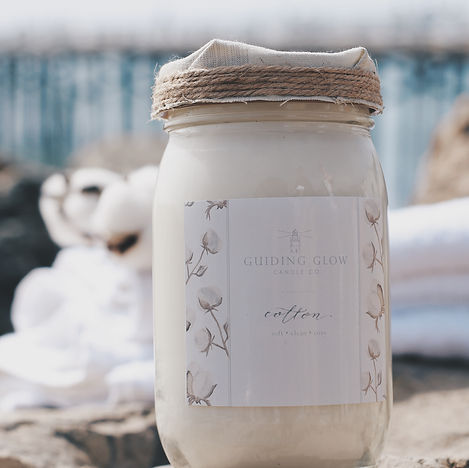 Cotton Candle by Guiding Glow Candle Co.