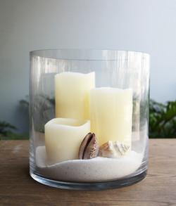 Low Open Cylinder vase