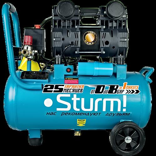 Компресссор безмасляный бесшумный Sturm! AC93224OL