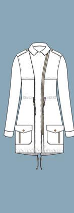 CAD Illustration - Parka jacket