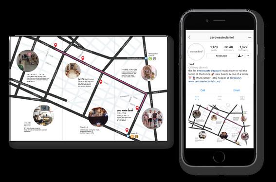 Map used on social media platforms