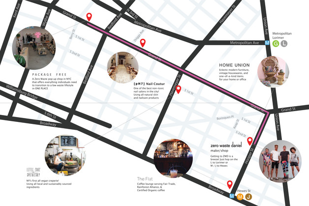 zwd shopping tour map used for social media